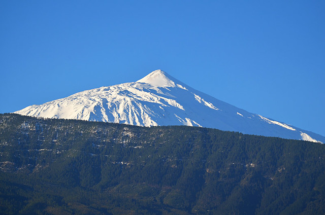 February, snow on Teide, Tenerife
