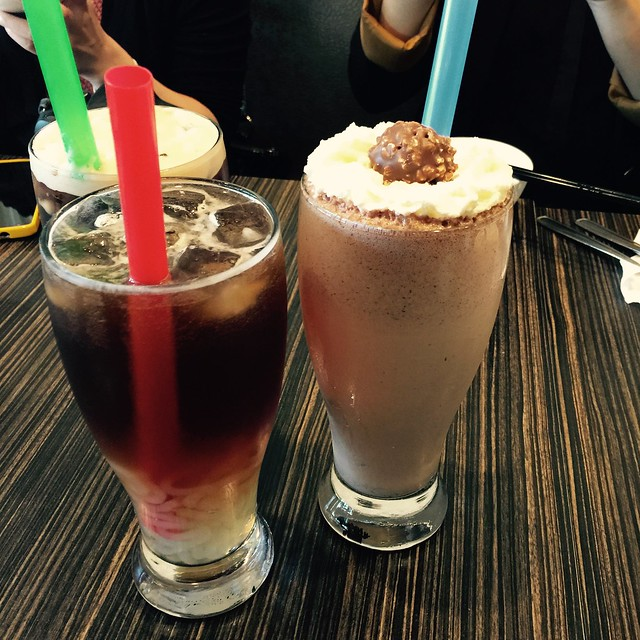 Ferraro Rocher Chocolate Milkshake at Pearl Castle Cafe