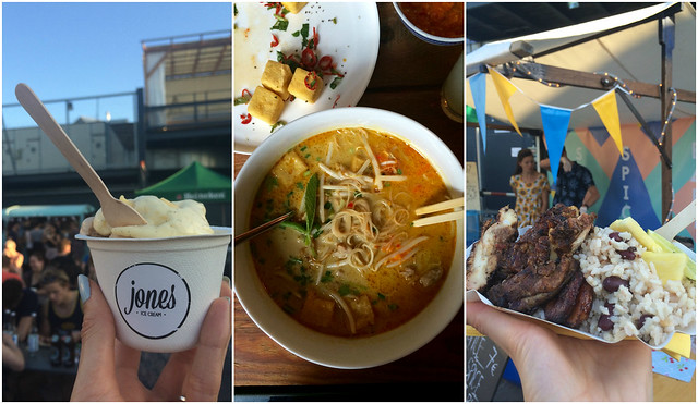 Berlin Food Collage_ Bite Club Jones Ice Cream Laksa Pop-up Spice Spice Baby Jerk Chicken