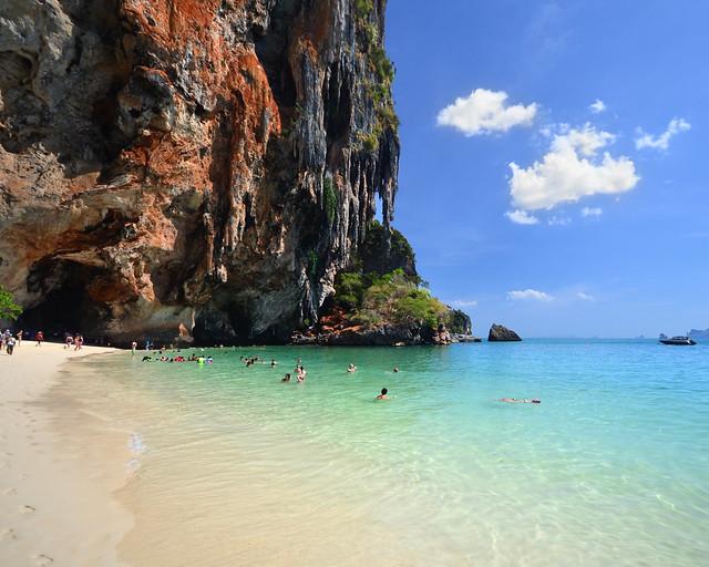 La playa de Phra Nang, de las más bonitas del sur de Tailandia