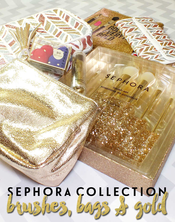 sephora collection holiday 2016 bags & brushes