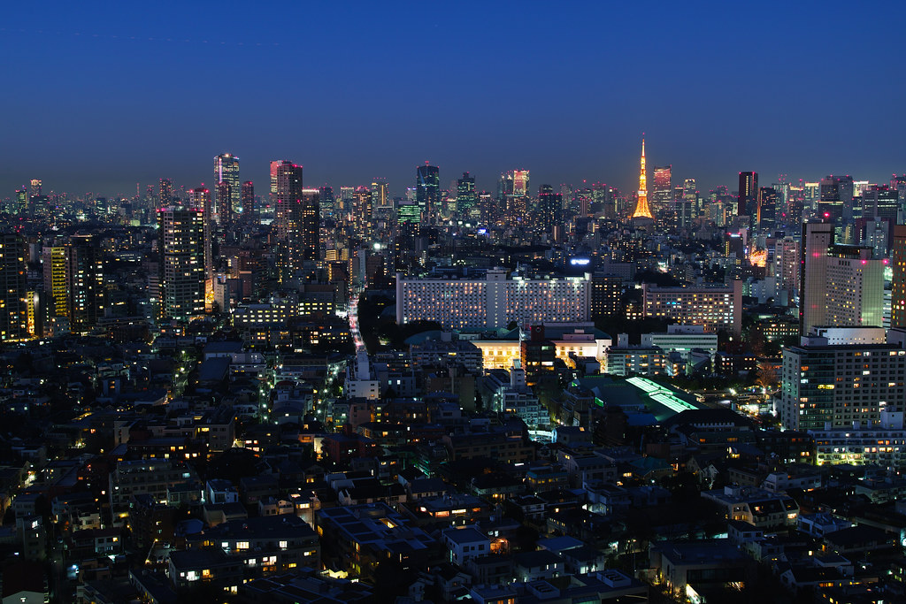 Tokyo Tower in suset