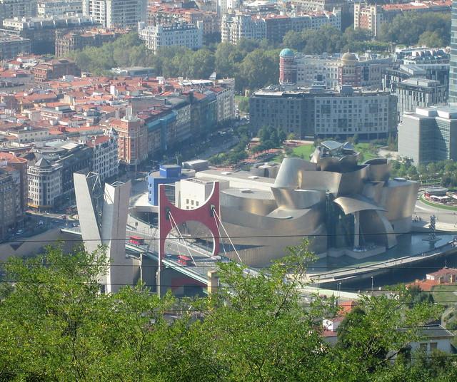 Guggenheim Museum, Bilbao from Aretxbaleta Bidea