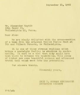 1966 Alexander Kaptik letter closeup