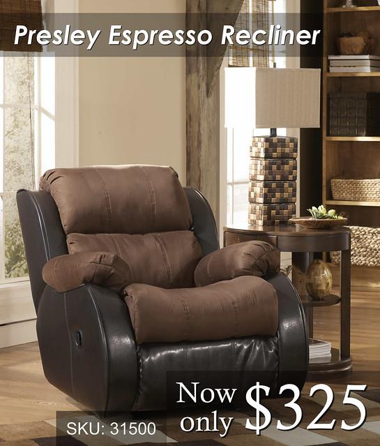 Presley Espresso Recliner