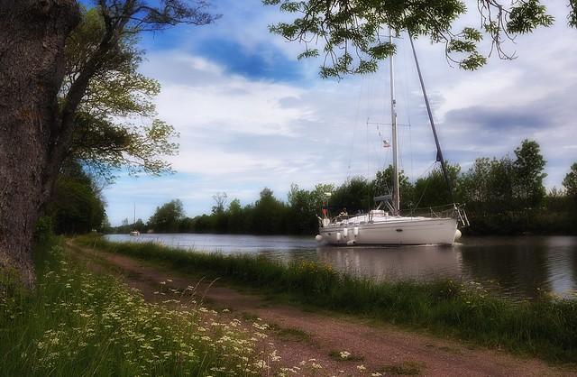 Sailing in Gøta / Gota Canal, Sweden