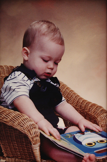 Baby Logan with Book