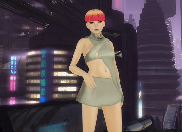 futuristic party girl...