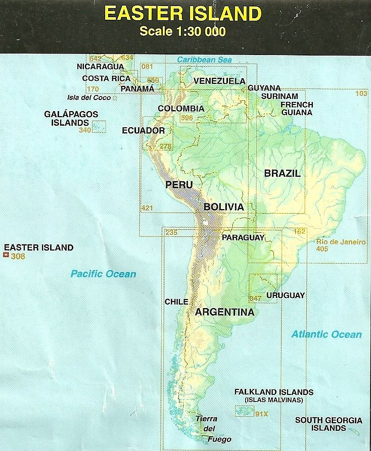 Map of Easter Islands Pacific Location 1999 Easter Islan Flickr