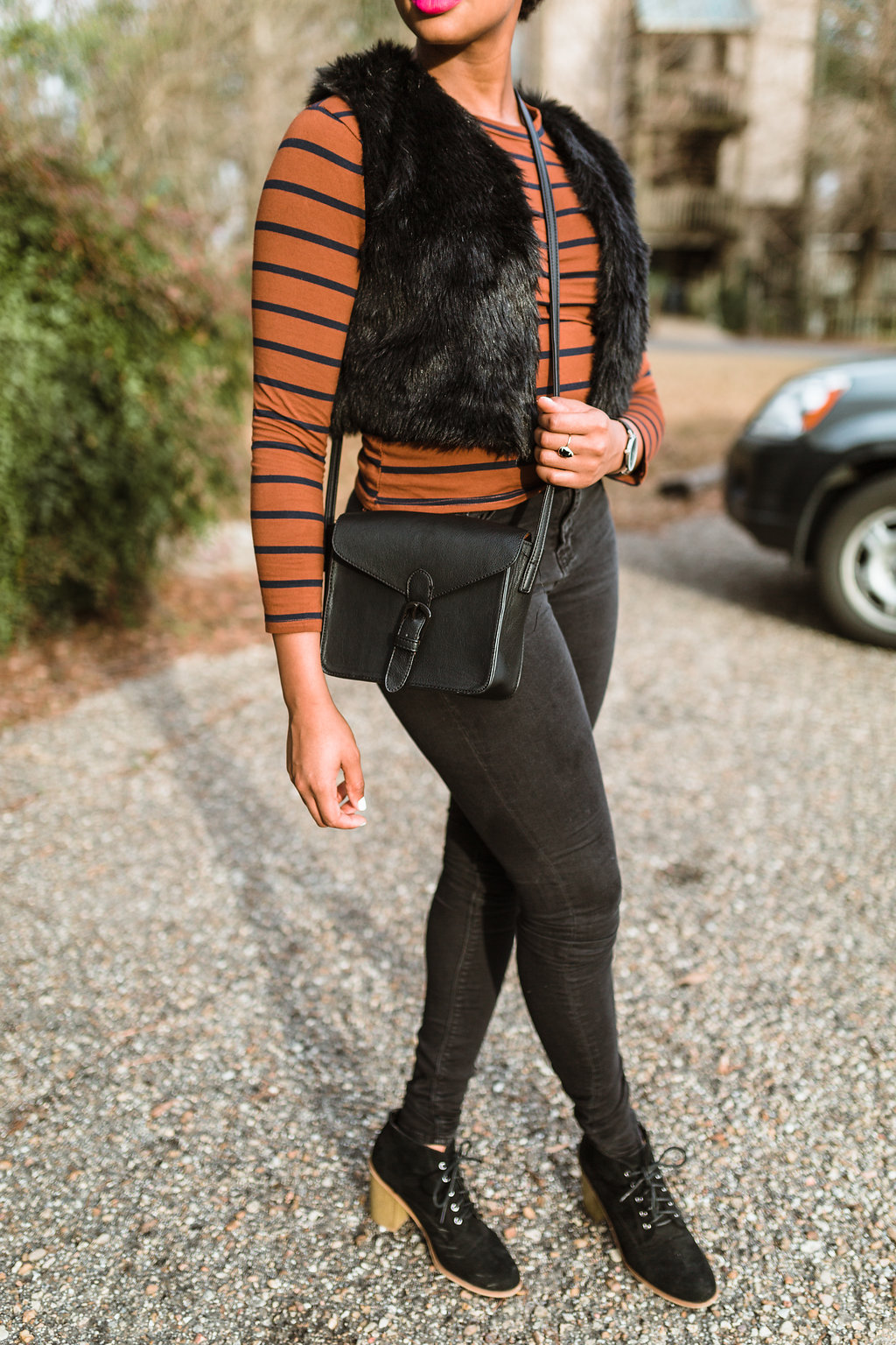 how to wear a faux fur vest, the beauty beau