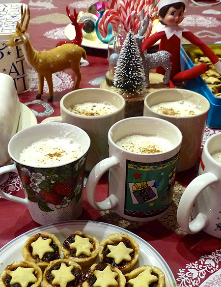 eggnog and mincepies