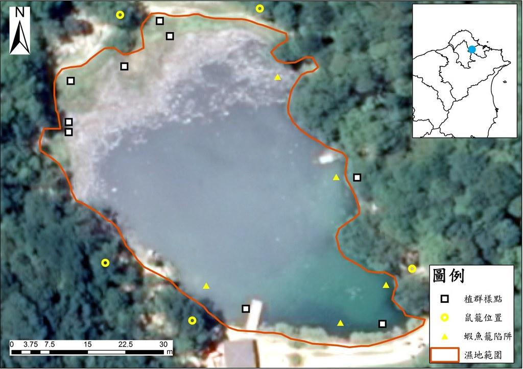 夢湖航照圖。資料來源:邱郁文。