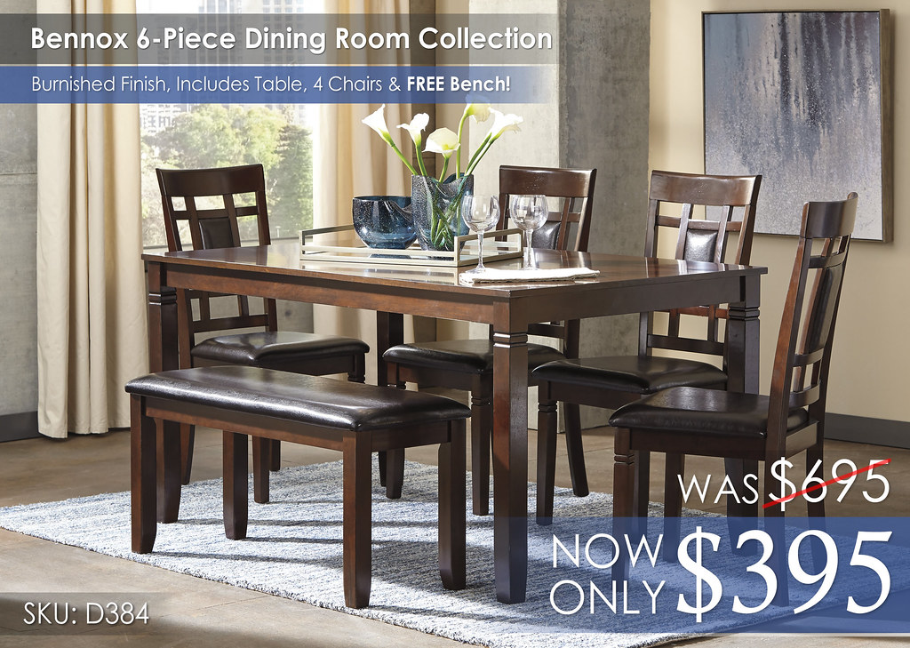 Bennox 6-Piece Dining Room Set D384-325-R400142