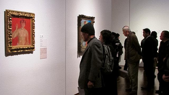 梅原龍三郎《黄金の首飾り》(1913年、東京国立近代美術館蔵)が展示された会場