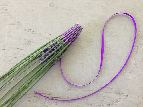 Lavender wand in progress
