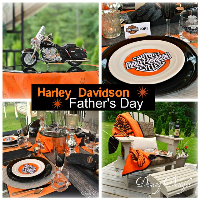 Inspiration began with this wonderful model of Mr. D\u0027s bike (Road King Classic) which a good friend gave him. & Dining Delight: Harley Davidson Table for Father\u0027s Day