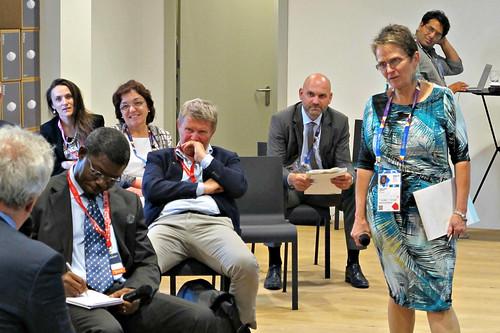 Shirley Tarawali, assistant director general of ILRI, facilitates a livestock discussion at Expo Milano 2015