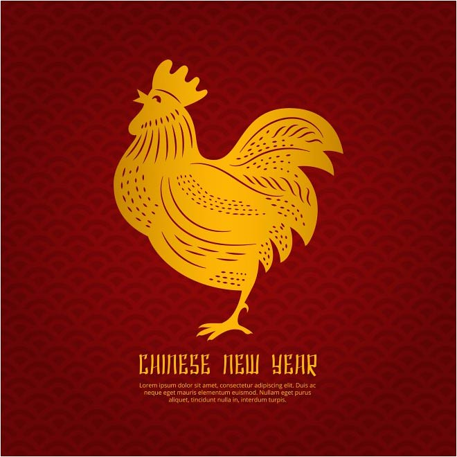 free vector happy chinese new year 2017 rooster background by cgvector