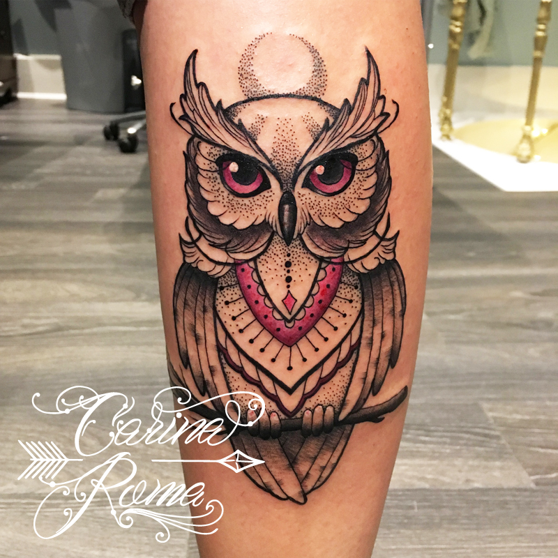 Mandala Owl Tattoo Carina Roma Custom Tattoo Artist Carin Flickr