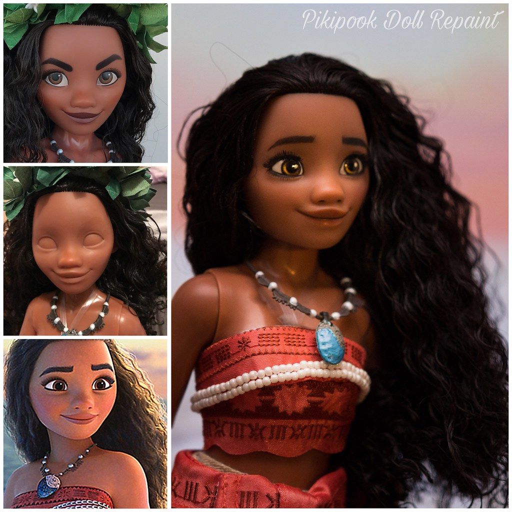 moana vaiana limited edition 17 doll repaint ooak disney s flickr. Black Bedroom Furniture Sets. Home Design Ideas