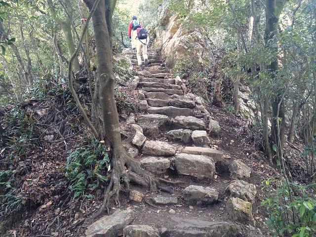 金華山 めい想の小径 下山口すぐの石段