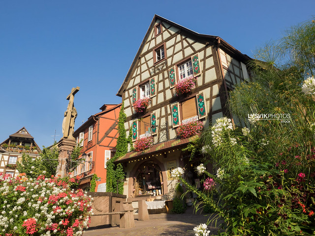 Picturesque building in Kaysersberg, Elsace
