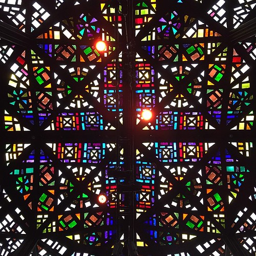 Stained glass ceiling of the Great Hall, NGV International