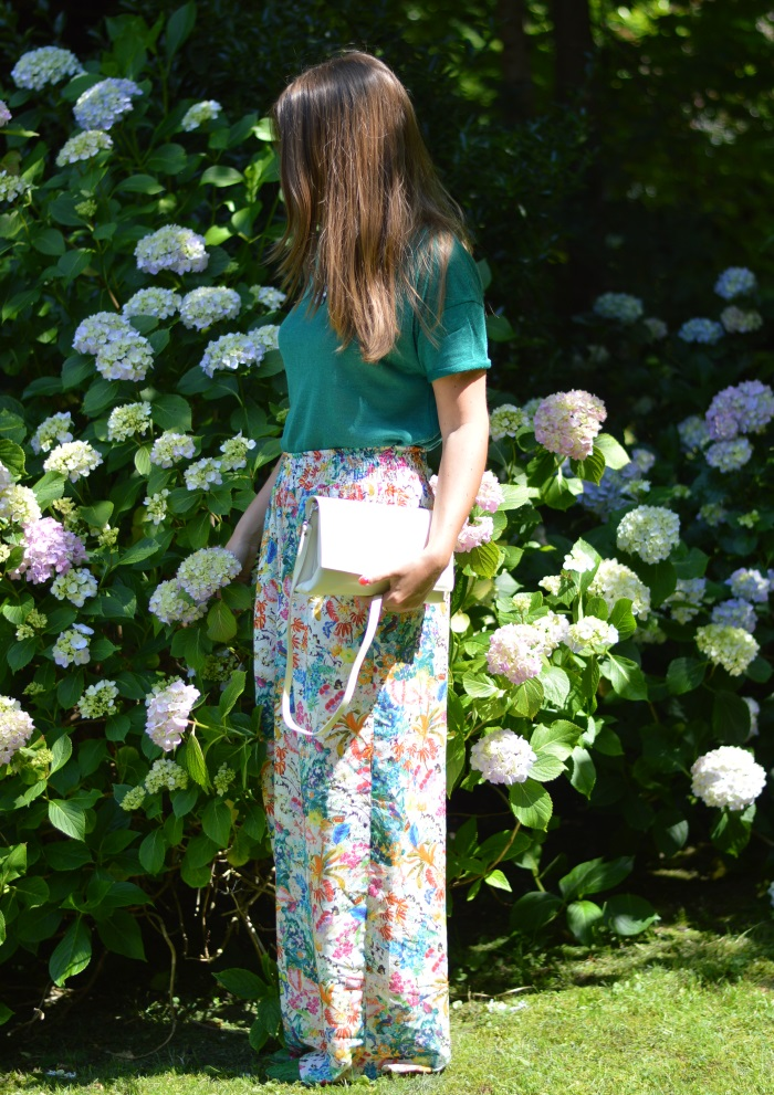 pantaloni palazzo, Zara, wildflower girl, ortensie, fashion blog (17)
