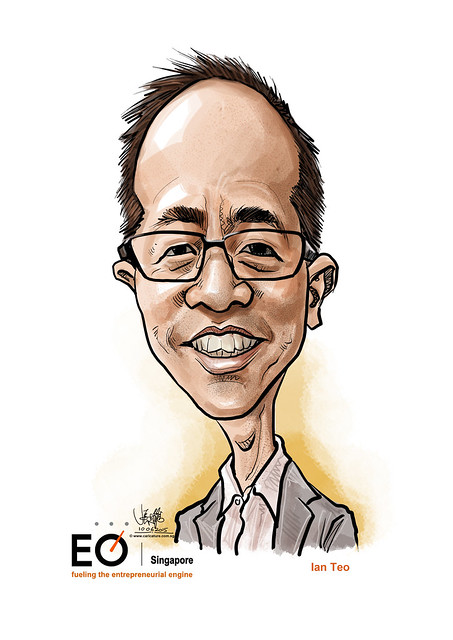 Ian Teo digital caricature for EO Singapore