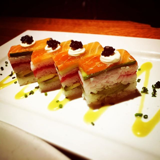 Yuzu Salmon Pressed Sushi - courtesy of R&D Kitchen. Happy… | Flickr