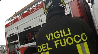 Conversano_  Vigili del Fuoco in Via San Lorenzo