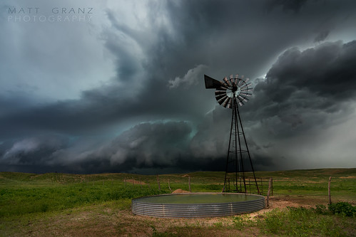 The Old Windmill in the Storm