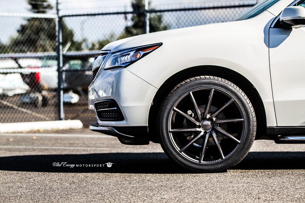 Acura Mdx Cvt Gloss Graphite 169 Vossen Wheels 2015
