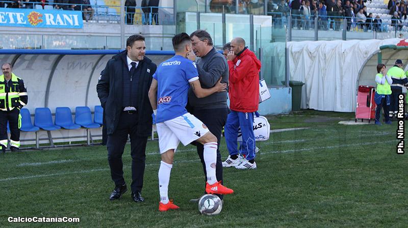 Il ds Argurio, l'ad Lo Monaco e Andrea Di Grazia