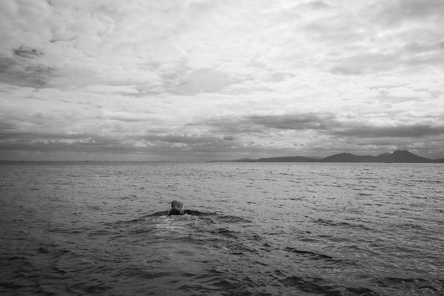 Diving in the cold Mediterranean Sea
