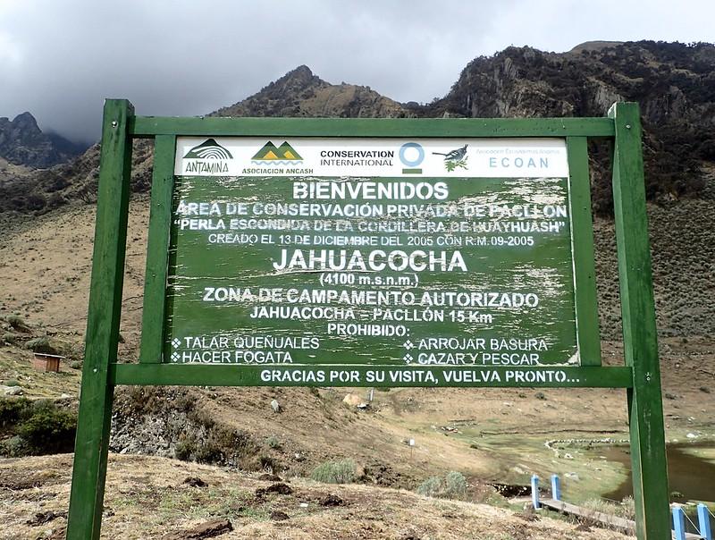 Laguna Jahuacocha (4.100 metros por encima del nivel del mar).