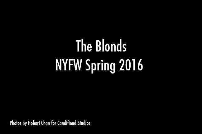 NYFW SP 2016 | The Blonds