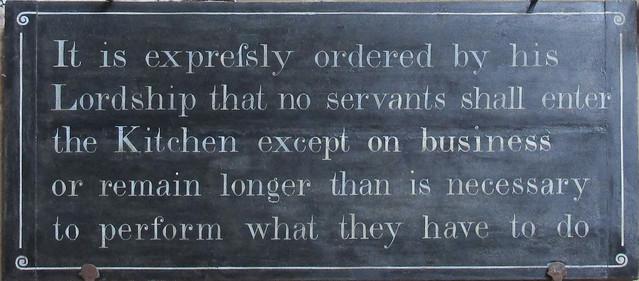 Servants' sign