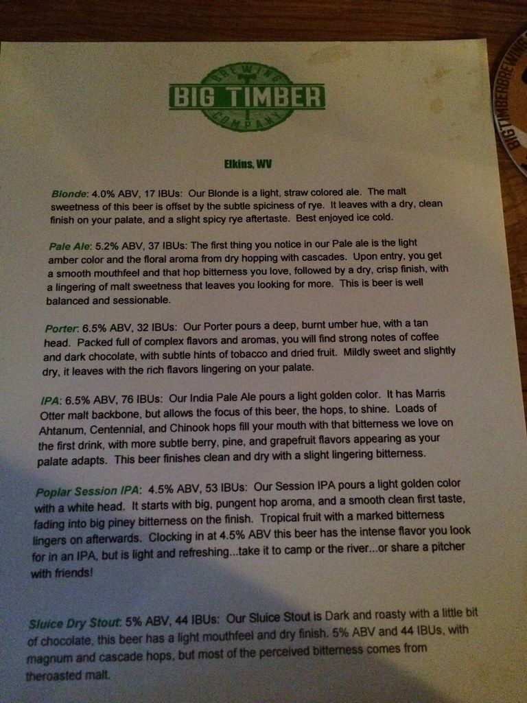 Big Timber Brewing