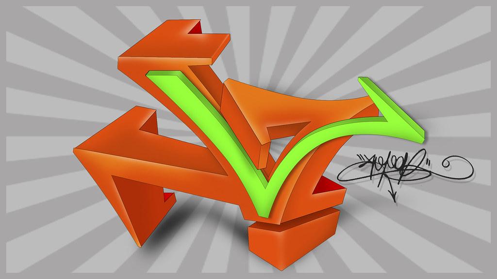 Letra L En Graffiti 3d Hoper St Flickr