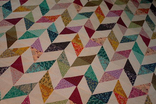 Scrap-Happy Herringbone Quilt (Top)