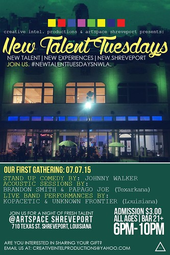 New Talent Tuesdays, Artspace Shreveport