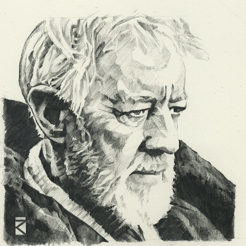 Star Wars illustrations by Russell Walks - Obi-Wan Kenobi