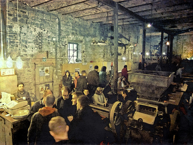 The Caracole Brewery tasting room near Dinant in Belgium run through the photo app Stackables