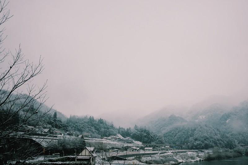 田舎町雪景色