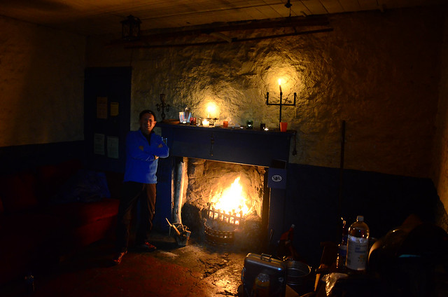 Keir at the bothy.