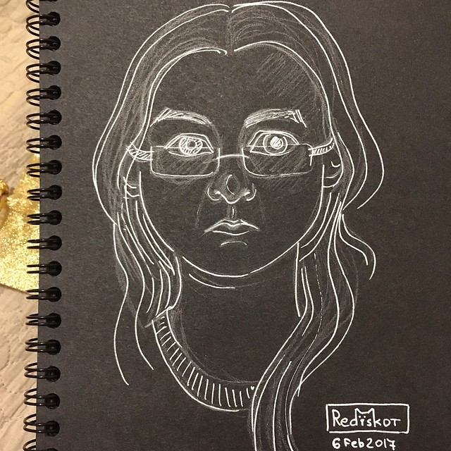 Sketchy selfie #15