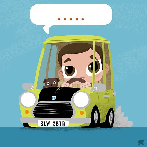 Retro Ridez by Jason Cadwell aka JayDraws - Mr Bean