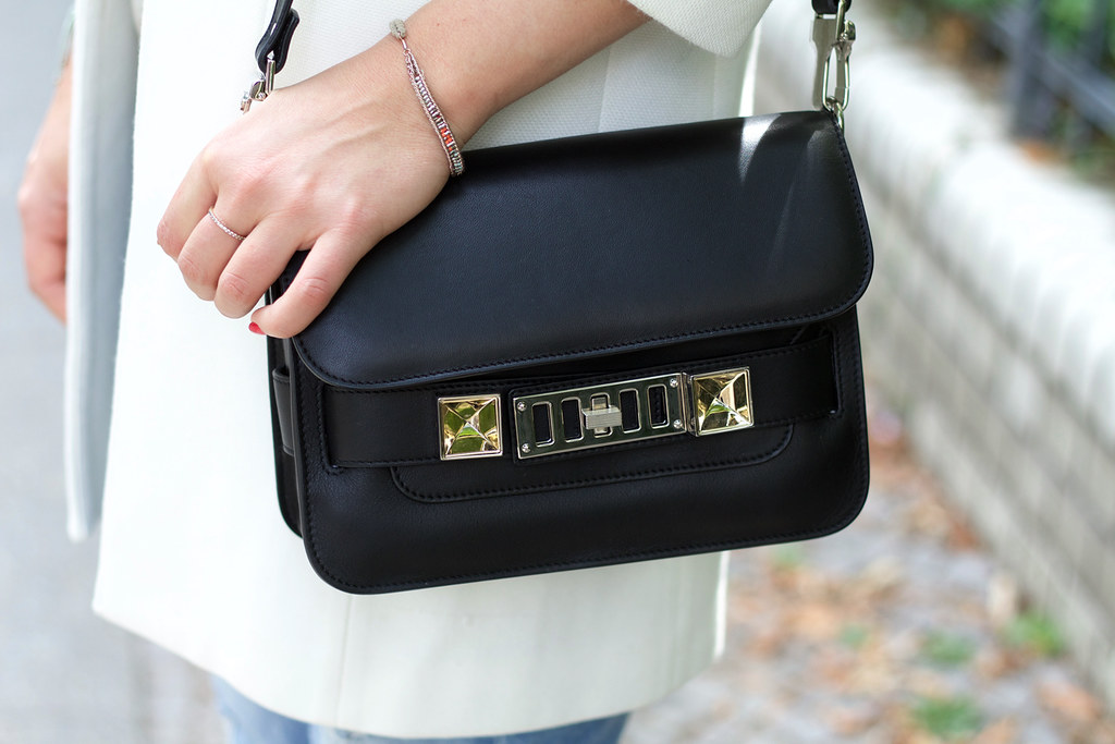 zara coat proenza schouler bag