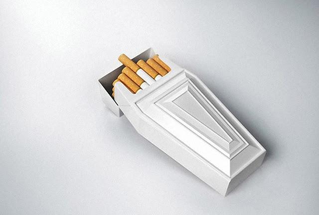 foto ingeniosa de cajetilla de cigarrillos